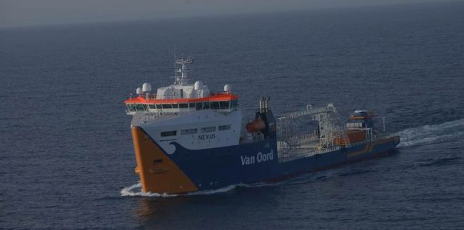 Offshore cable layer delivered successfully by Damen to Van Oord in just 15 months