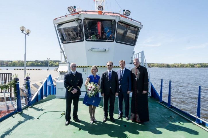 "Klaipeda State Seaport Authority held christening ceremony for its new oil response and diving support vessel - ""Naras"""
