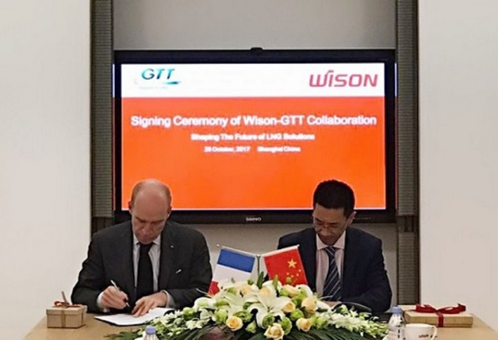 Wison Offshore & Marine Signs Strategic Cooperation Agreement with GTT