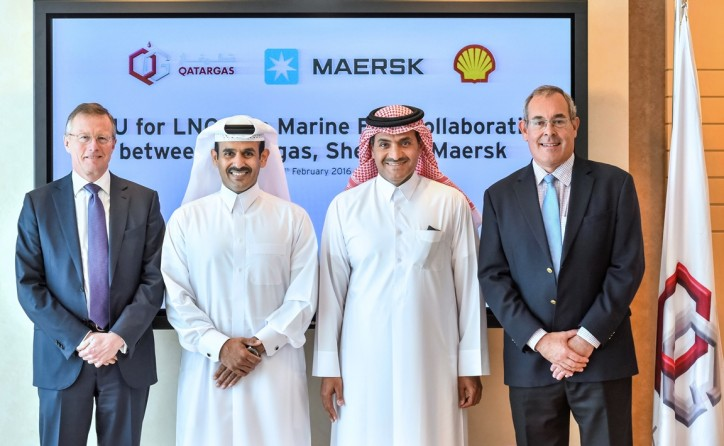 Qatargas, the Maersk Group and Shell signed a Memorandum of Understanding (MoU) to explore the development of LNG as a marine fuel in the Middle East region.