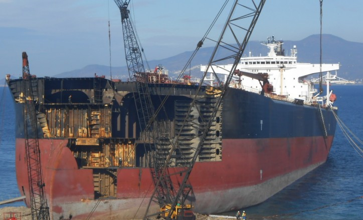 Ship recyclers' revenue slips as scrap-steel prices plunge