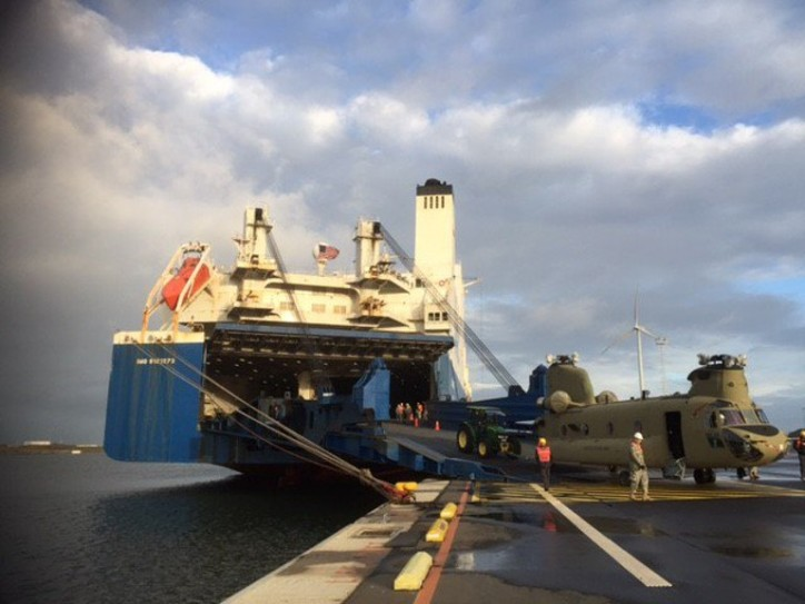 ARC Discharges Army Unit in Zeebrugge for Operation Atlantic Resolve