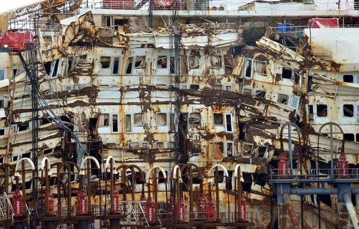 The Costa Concordia accident - the worst maritime disaster in Italy since the World War Two.