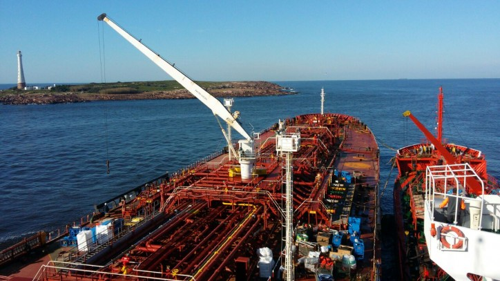 Update: Small Tanker Starts Lightering operation for Grounded Siteam Anja