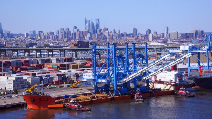 Twin Super Post-Panamax Cranes Make Their Spring Arrival at The Port of Philadelphia