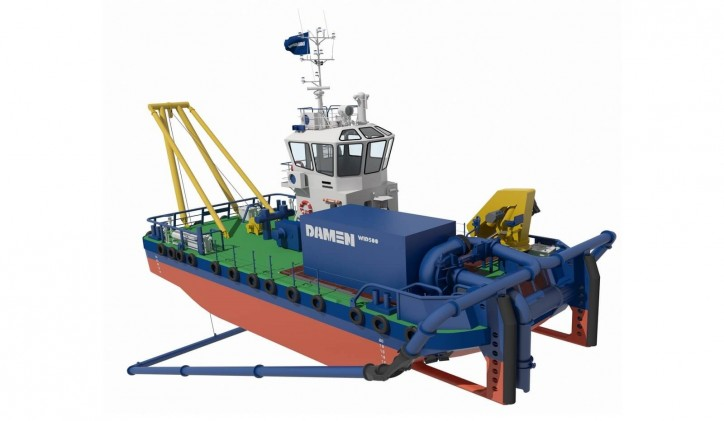 Damen unveils Multi Cat Water Injection Dredger