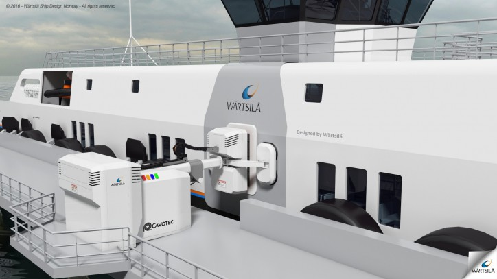 Cavotec's mooring system is a vacuum-based automated mooring technology that eliminates the need for conventional mooring lines.