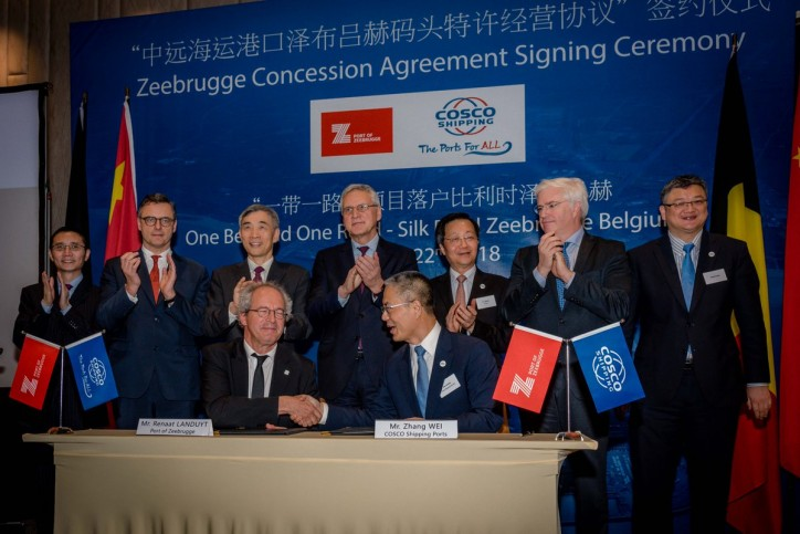 Cosco Shipping Ports signs concession agreement with Port of Zeebrugge and reaches MoU with CMA CGM for strategic partnership