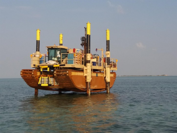 Fugro intertidal drilling rig wins innovation award for tackling data gap in shallow water geotechnics