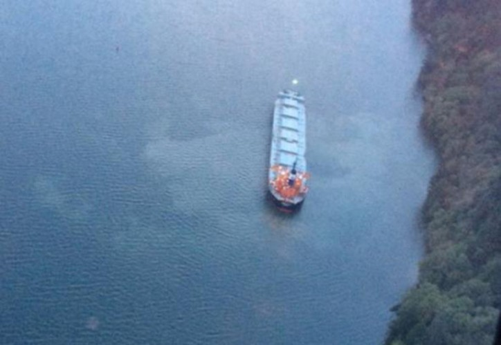 Bulk Carrier Rosco Palm runs aground in the Columbia River