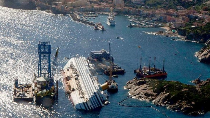 Costa Concordia Salvage operations