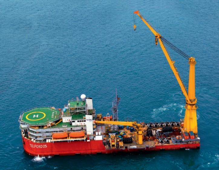 Timas Suplindo charters Telford Offshore's multi-purpose construction vessel in Indonesia