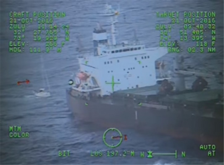 USCG medevacs 3 Canadian sailors southeast of Cape Fear, NC (Video)