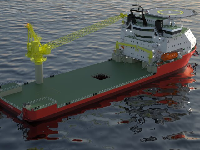 ULSTEIN introduces new design for DP construction vessel suitable for shallow water operations