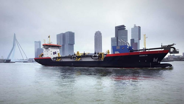 Ecodelta - Hyper-modern LNG-powered vessel to start dredging in port of Rotterdam