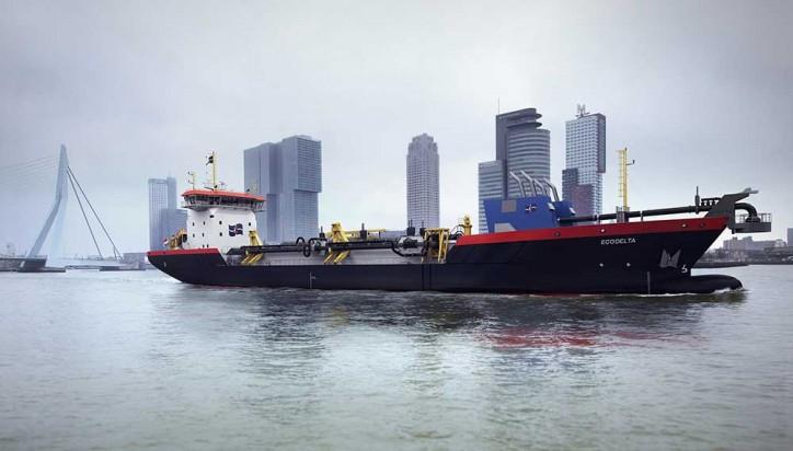 Ecodelta - Hyper-modern LNG-powered vessel to start dredging in port of Rotterdam