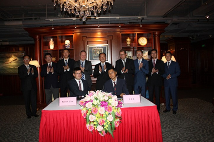 China Classification Society Inks MOU on Cooperation with Maersk Line