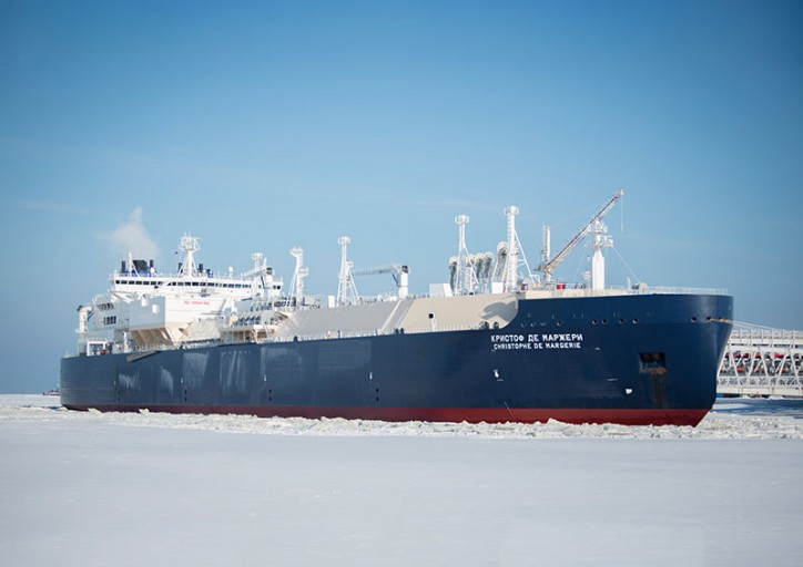 LNG carrier Christophe de Margerie loads first cargo from Yamal LNG third train