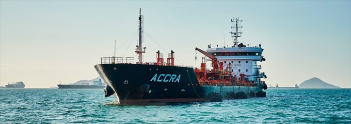 Accra - Largest and most modern tanker in the Panama Canal
