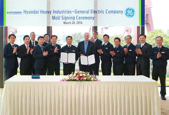 HHI and GE sign MOU for the development of GOGES package about LNG carriers and container ships