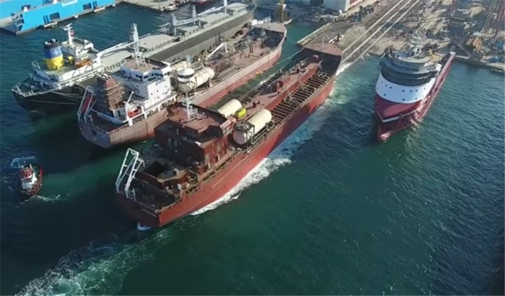 Video: Launching of MT Mia Desgagnés at Besiktas Shipyard