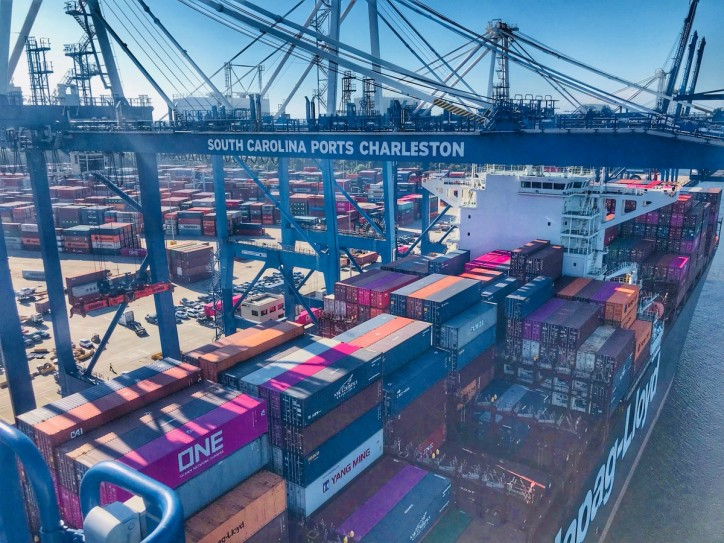 South Carolina Ports Authority Handles Record January Container Volume