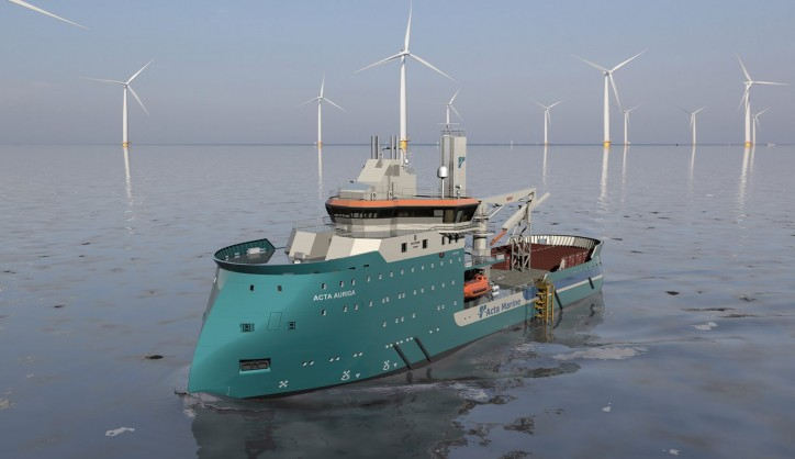 Acta Marine's walk-to-work construction support vessel in final construction phase