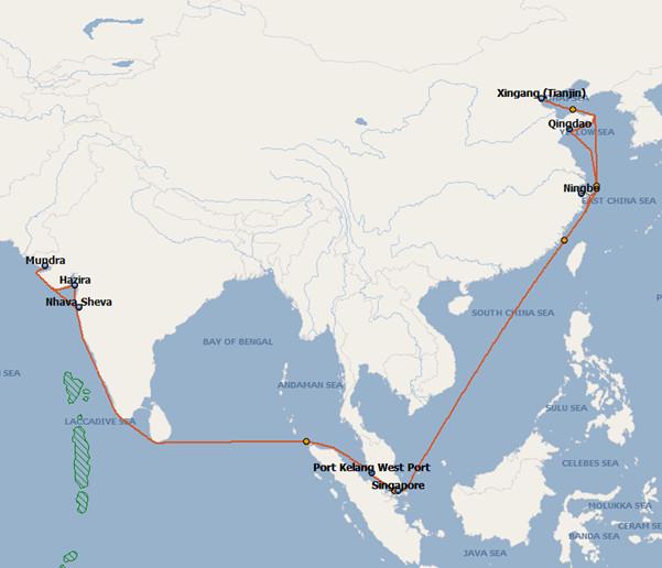 Hyundai Merchant Marine To Launch New North China West