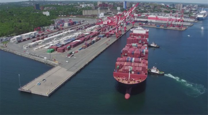 VIDEO: ZIM Antwerp - The first 10,000+ TEU vessel at Port of Halifax
