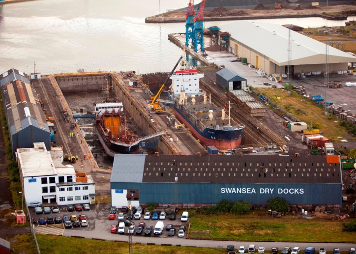 Swansea Drydocks reopens after extensive refurbishment