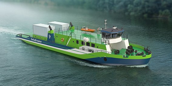 DeltaBreaker - a multipurpose vessel for inland waterways by Deltamarin