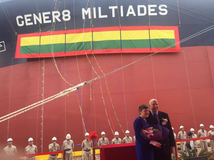 "Gener8 Maritime Takes Delivery of ""ECO"" VLCC- Gener8 Miltiades"
