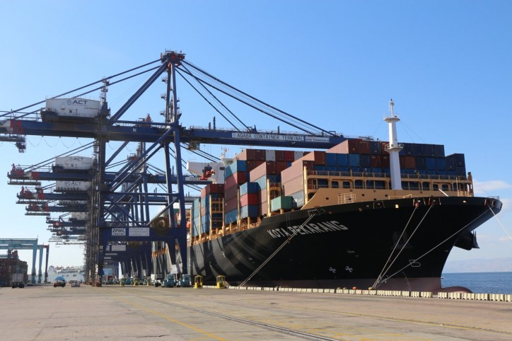 Containership KOTA PEKARANG in its Maiden call to Aqaba Container Terminal