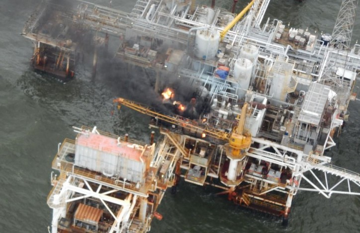 Oil Platform Fire extinguished off Louisiana coast