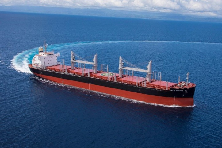 """Tsuneishi Shipbuilding delivers first """"TESS38"""" Ship – Its 38,300-tonne Log and Bulk Carrier"""