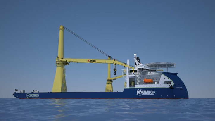 Jumbo appoints Huisman for pioneering offshore mast cranes