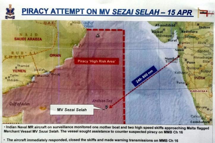 Navy Plane Foils Piracy Attempt in Western Arabian Sea