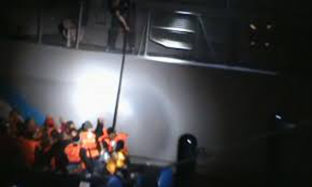 Exclusive Video: Greek coast guard allegedly tries to sink migrant boat