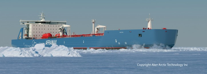 Arctic tanker design jointly developed by Deltamarin and Aker Arctic