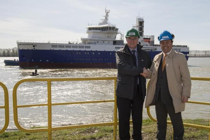 "Service Operation Vessel ""Bibby Wavemaster 1"" Launched At Damen Shipyards Galati (Video)"