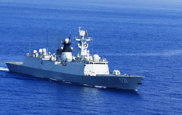 Chinese Navy warship CNS Xiangtan