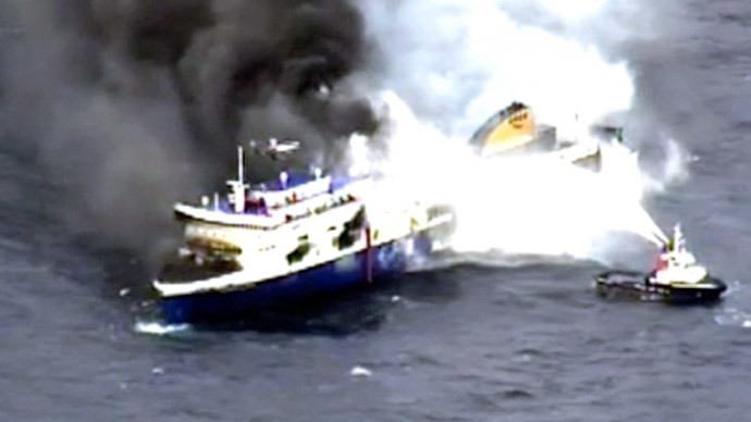 Death toll of the burning ferry ship Norman Atlantic rises to 10