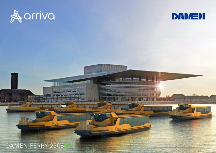Damen and Arriva extend ferry service from Copenhagen city centre to port area with two additional Damen Ferries 2306E3
