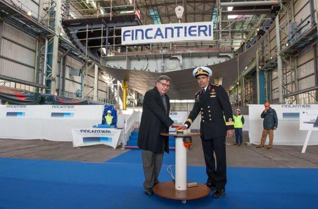 Fincantieri: Dry Dock works start on the first corvette for Qatar