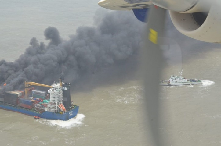 22 Crew Members Rescued After Container Ship SSL Kolkata Catches Fire In Bay Of Bengal