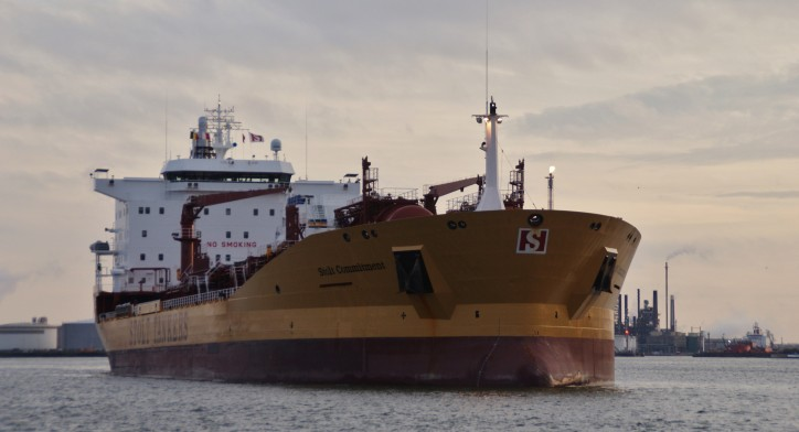 STOLT COMMITMENT tanker collided with cargo ship THORCO CLOUD in Singapore Strait