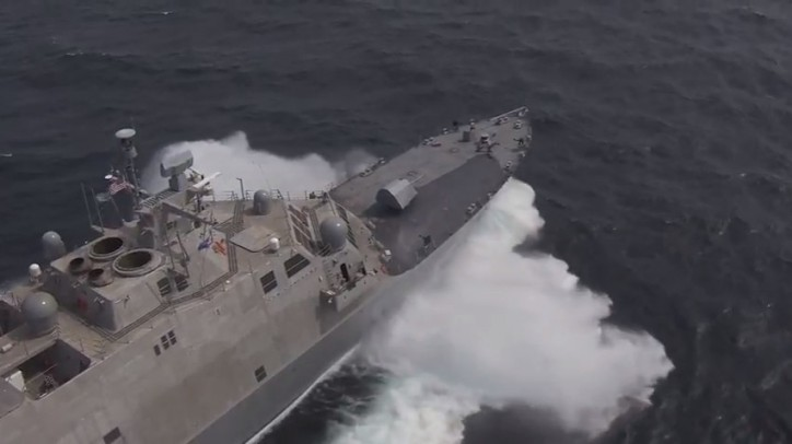 Video: Littoral Combat Ship Detroit Completes Acceptance Trials