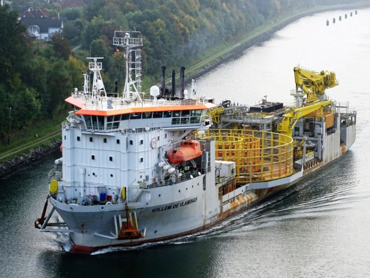 Jan De Nul Group's Cable Laying Vessel Willem de Vlamingh successfully installs cables on Formosa 1 WF in Taiwan