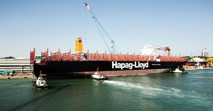 The 15.000-TEU container ship AFIF joins Hapag-Lloyd fleet in South Korea