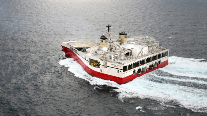 PGS' Ramform Tethys - the most powerful seismic ship launched in Japan